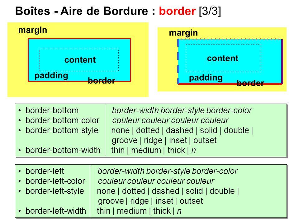 Boîtes - Aire de Bordure : border [3/3]